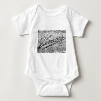 Vernors Wall Ann Arbor Michigan Vintage Brick Wall Baby Bodysuit