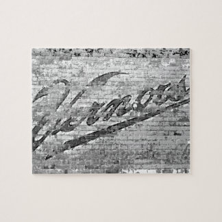Vernors Wall Ann Arbor Michigan Vintage Brick Wall Jigsaw Puzzle