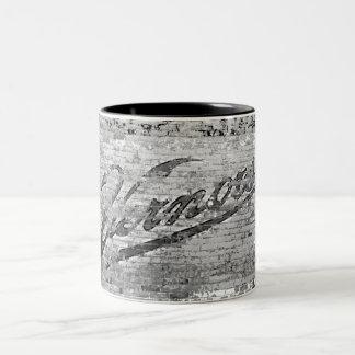 Vernors Wall Vintage Ann Arbor, Michigan Two-Tone Coffee Mug