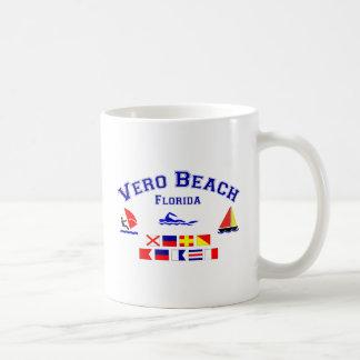 Vero Beach FL Signal Flags Coffee Mug