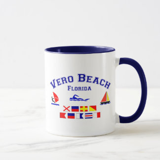 Vero Beach FL Signal Flags Mug