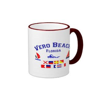 Vero Beach FL Signal Flags Ringer Mug