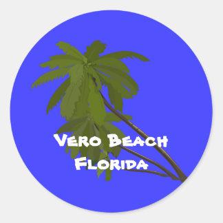 Vero Beach, Florida, Palm Trees Sticker