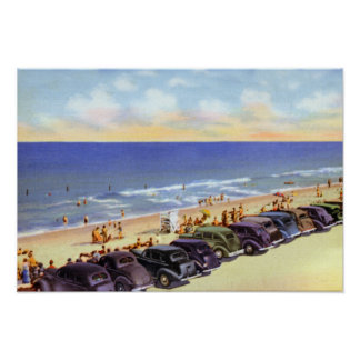 Vero Beach Florida Parking on Beach Poster