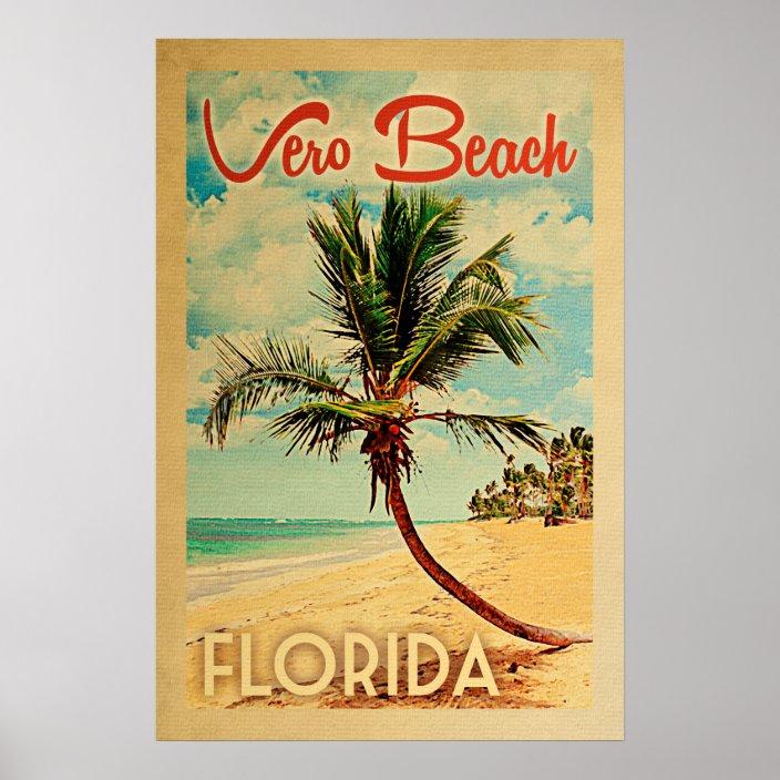 Vero Beach Florida Vintage Palm Tree
