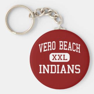 Vero Beach - Indians - High - Vero Beach Florida Basic Round Button Keychain