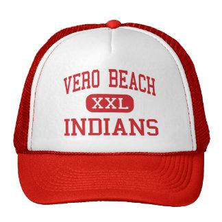 Vero Beach - indios - alto - Vero Beach la Florida Gorras De Camionero