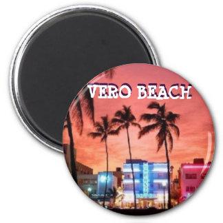 VERO BEACH LA FLORIDA IMÁN REDONDO 5 CM