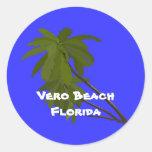 Vero Beach, la Florida, pegatina de las palmeras
