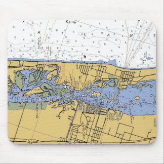 Vero Beach Nautical Harbor Chart mousepad