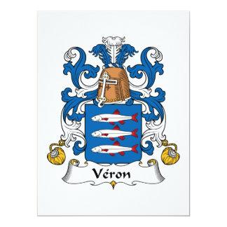 Veron Family Crest Card