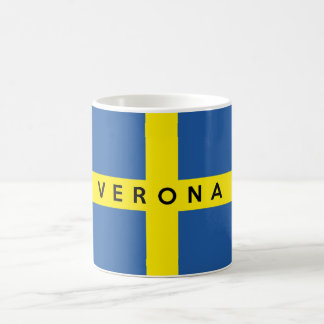 verona city flag italy symbol name text coffee mug