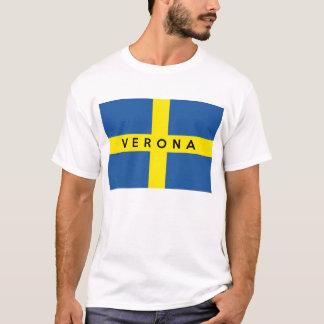 verona city flag italy symbol name text T-Shirt