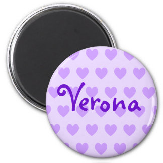 Verona in Purple 2 Inch Round Magnet