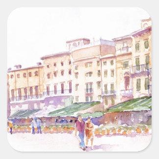 Verona, Italia Pegatina Cuadrada