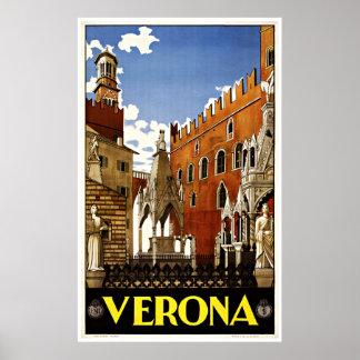 Verona Italia - posters del viaje del vintage