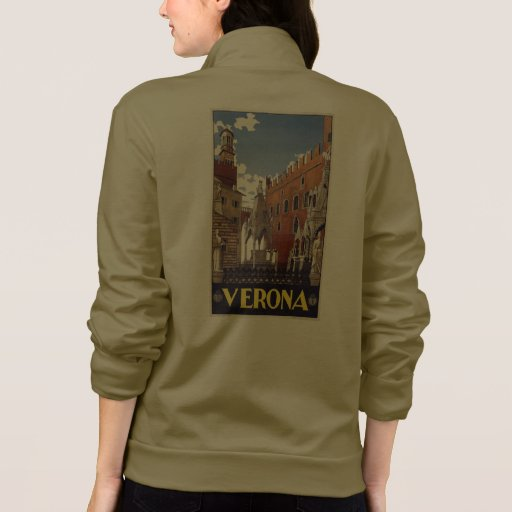 Verona Italy Custom Clothing Printed Jacket Zazzle