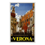 Verona Italy - Vintage Travel Posters