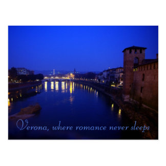 Verona, Night Postcard
