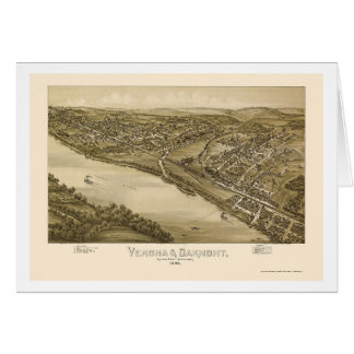 Verona & Oakmont, PA Panoramic Map - 1896 Card