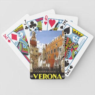 Verona Veneto Italy Vintage Travel Playing Cards