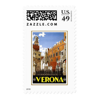 Verona Veneto Italy Vintage Travel Stamp
