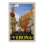 """Verona"" Vintage Italian Travel Poster"