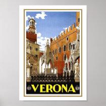 Verona Vintage Travel Poster