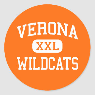 Verona - Wildcats - Area - Verona Wisconsin Classic Round Sticker