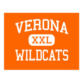 Verona - Wildcats - Area - Verona Wisconsin Postcard