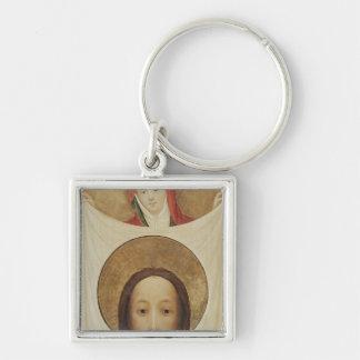 Veronica con el Sudarium, c.1420 del santo Llavero Cuadrado Plateado