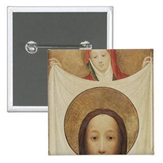 Veronica con el Sudarium, c.1420 del santo Pin Cuadrada 5 Cm