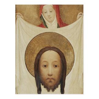 Veronica con el Sudarium, c.1420 del santo Tarjetas Postales