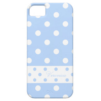 Veronica - Cute Polka Dots With Your Name - iPhone 5 Case