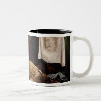 Veronica del santo taza de dos tonos