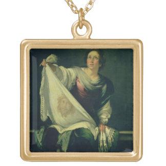 Veronica del St., 1625-30 (aceite en lona) Colgante Cuadrado