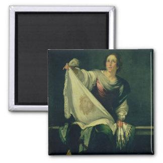 Veronica del St., 1625-30 (aceite en lona) Imanes De Nevera