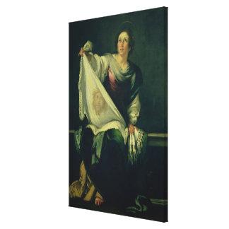 Veronica del St., 1625-30 (aceite en lona) Impresión En Lona