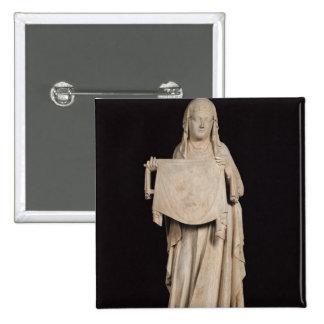 Veronica del St., c.1310 Pin Cuadrada 5 Cm