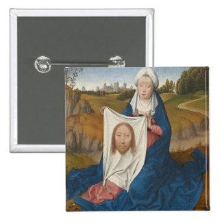 Veronica del St., c.1470-1475 (aceite en el panel) Pin Cuadrada 5 Cm