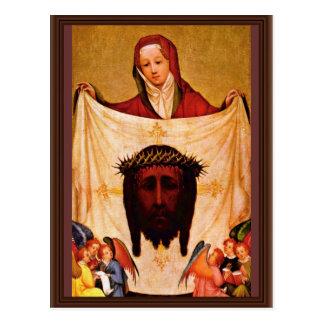 Veronica del St. con la cubierta de Cristo. Por Me Postal