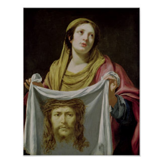 Veronica del St. que sostiene la cubierta santa Posters