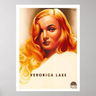 Veronica Lake - cartel de película del francés del Impresiones