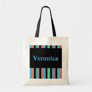 Veronica Pretty Striped Tote Bag