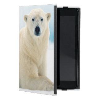 Verraco grande adulto del oso polar en el hielo iPad mini funda
