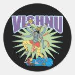 Verraco hindú de Vishnu Pegatina Redonda