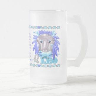 Verraco Leo del cerdo del agua del zodiaco de Valx Taza