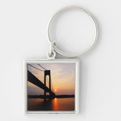 Verrazano Bridge at Dawn Key Chains