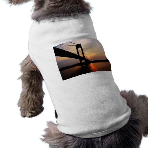Verrazano Bridge at Dawn Pet Clothes
