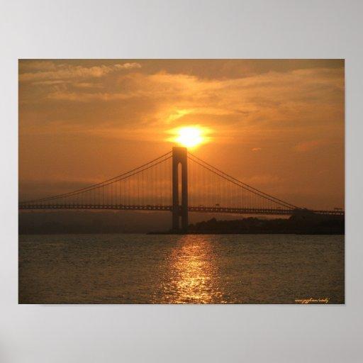 Verrazano bridge from Brooklyn to Staten Island Poster